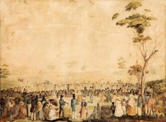 Berkeley Martha, The first dinner given to the Aborigines 1838, Art Gallery of South Australia