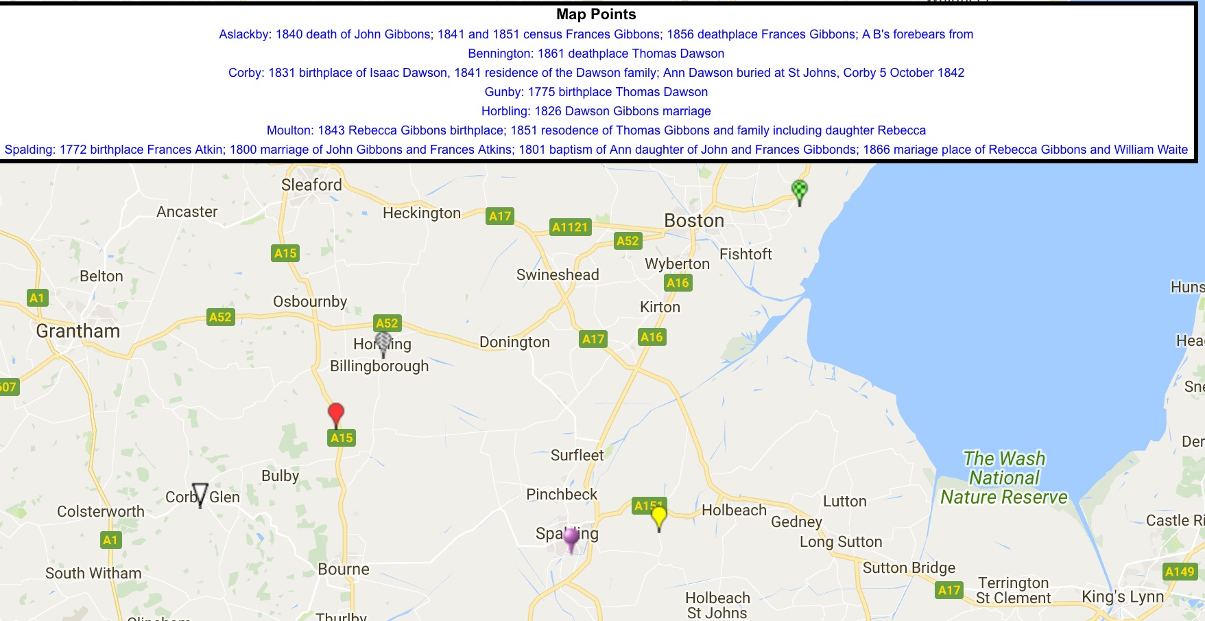 Mapalist Gibbons Lincolnshire