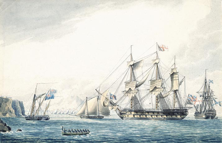 Ship_Argo_with_russian_ship_1799,_Gibraltar