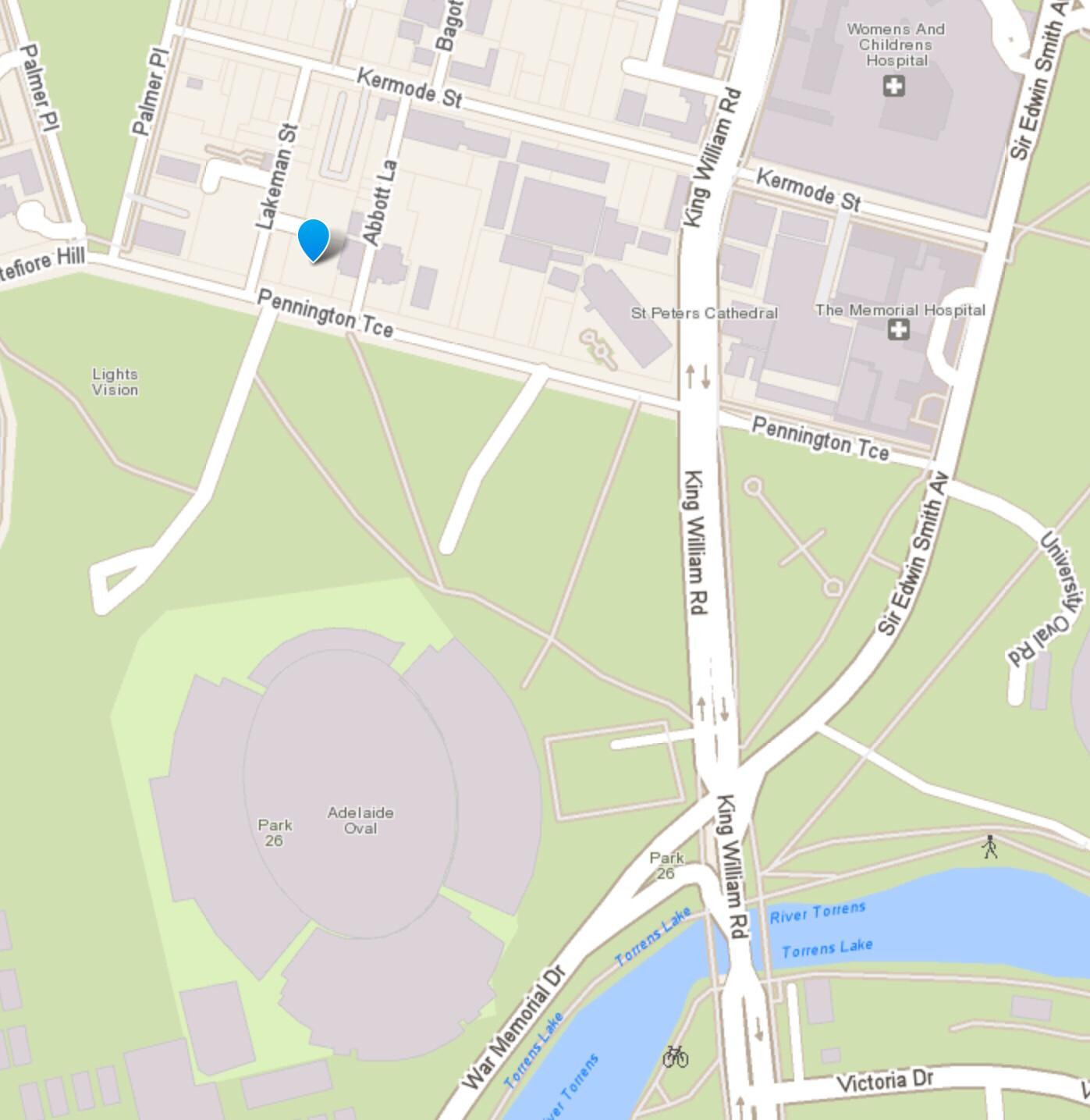 Map showing 64 Pennington Terrace
