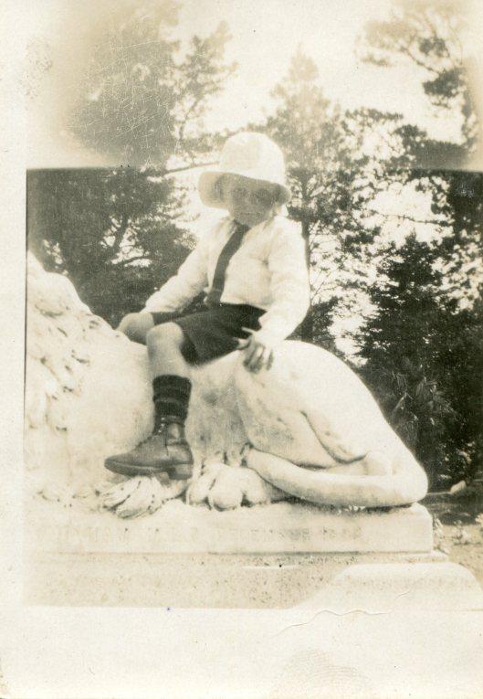 91 2 Peter about 1924 Ballarat Botanic Gardens