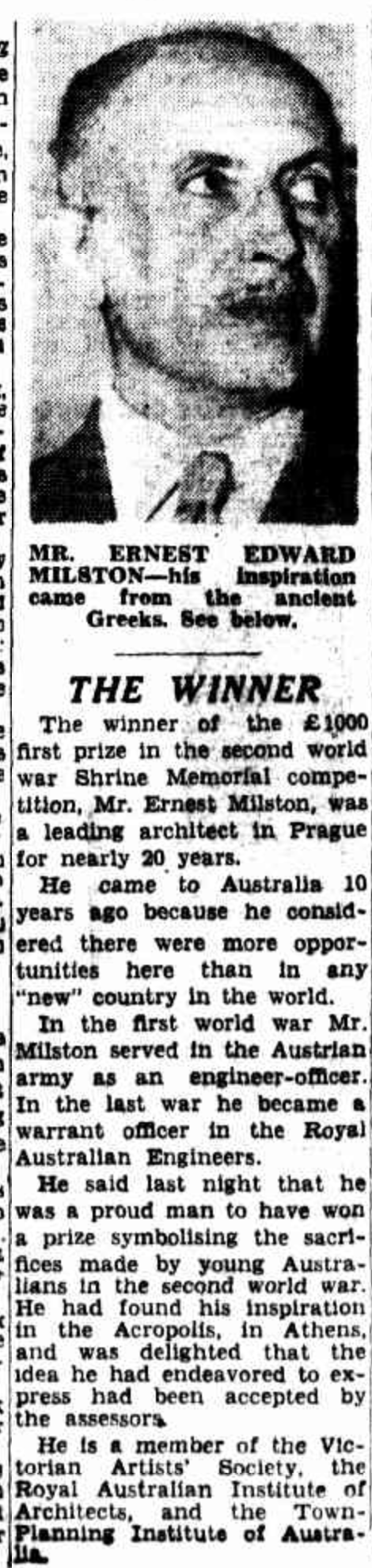 Milston The Age 18 Feb 1950 pg 2