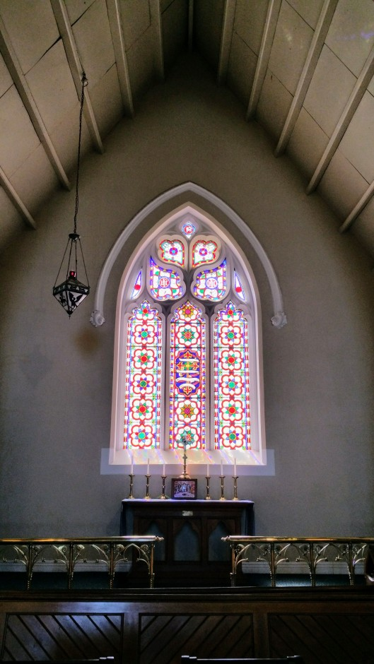 the east window of St Pauls Bakery Hill