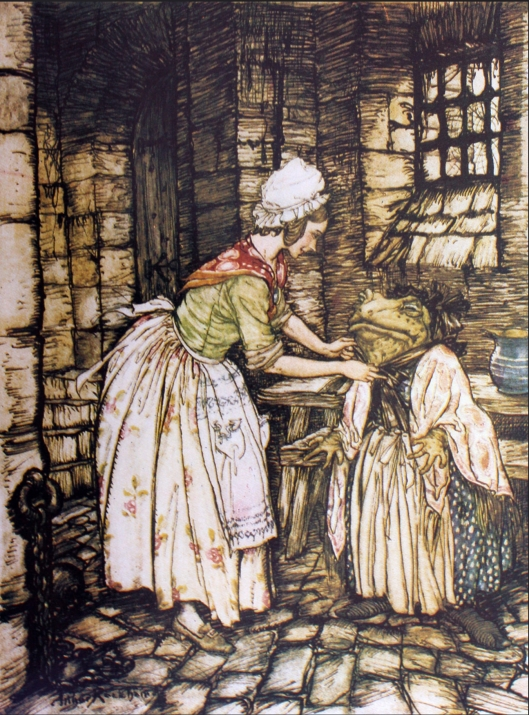 Toad as washerwoman