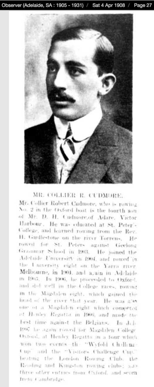 Collier Cudmore 1908 Adelaide Observer