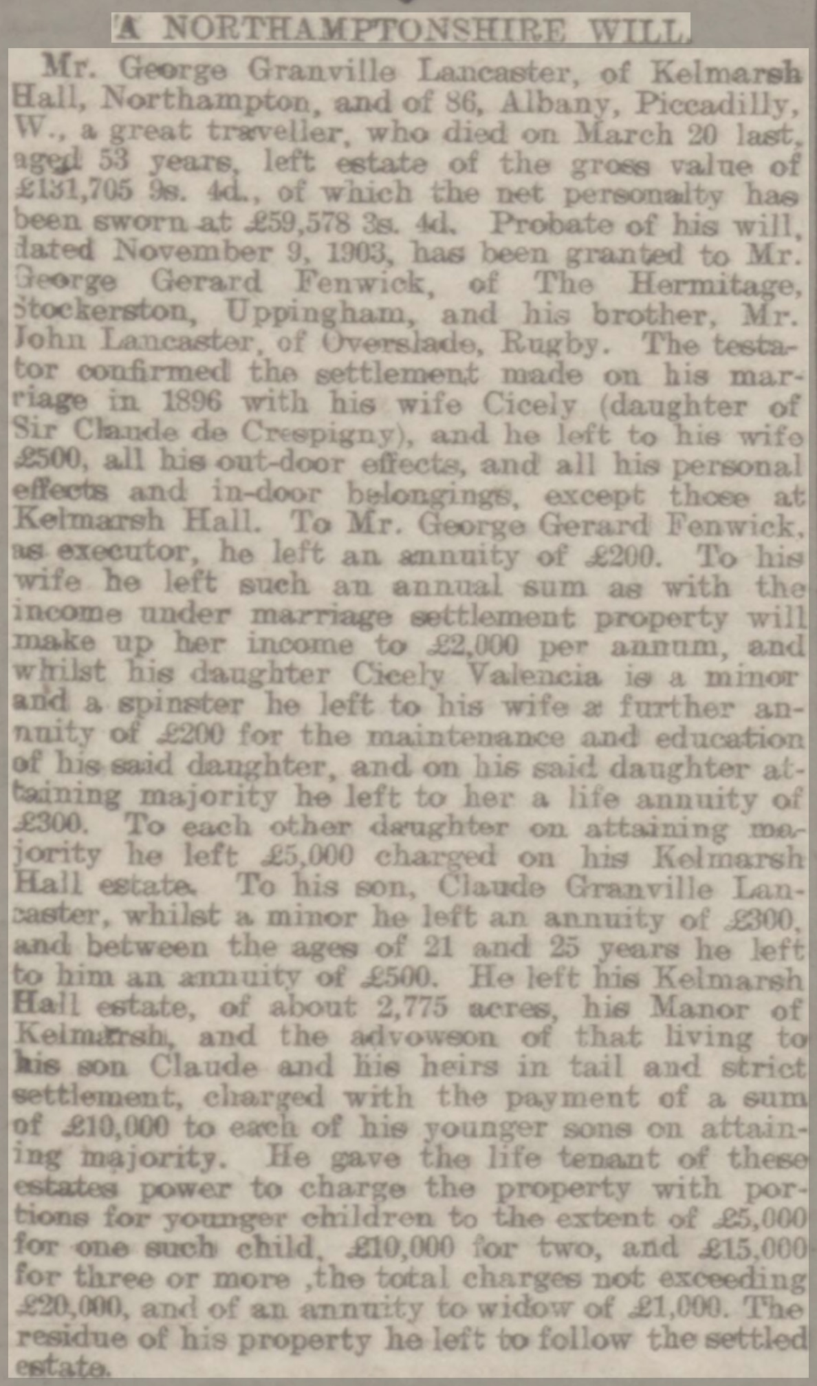 Northampton Mercury May 24, 1907 page 6