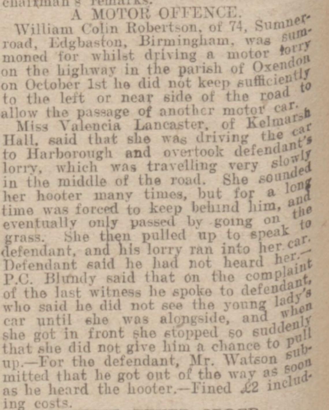 Northampton Mercury November 11, 1921 page 6