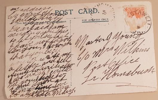 postcard 1 writing