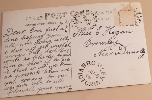 Postcard 4 to Eva writing
