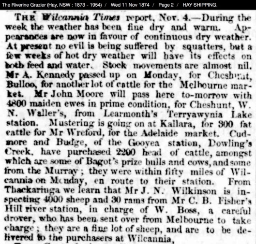 Riverine Grazier November 1874