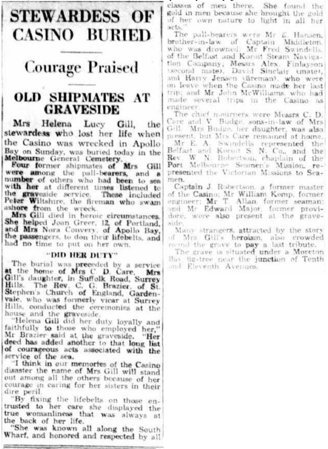 Gill Helena burial Herald 1932 07 13 pg 6
