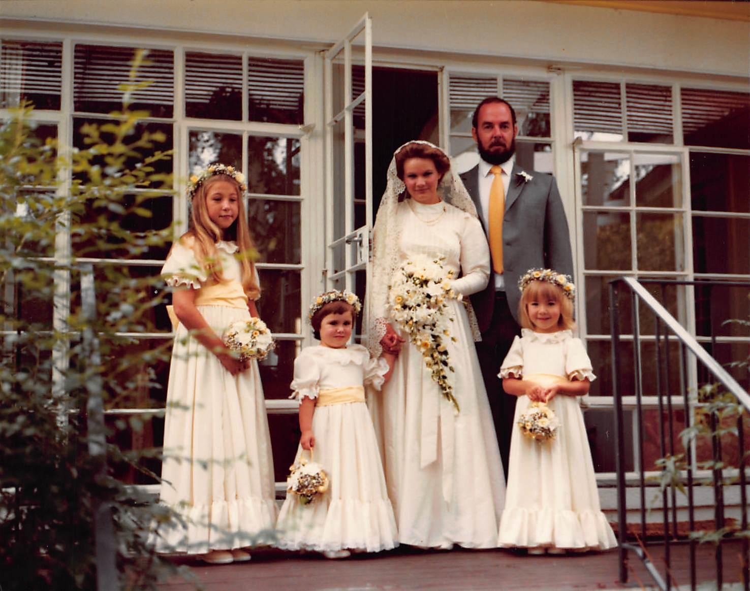 1984_02_18_wedding with Cassie Jodie and Vanessa