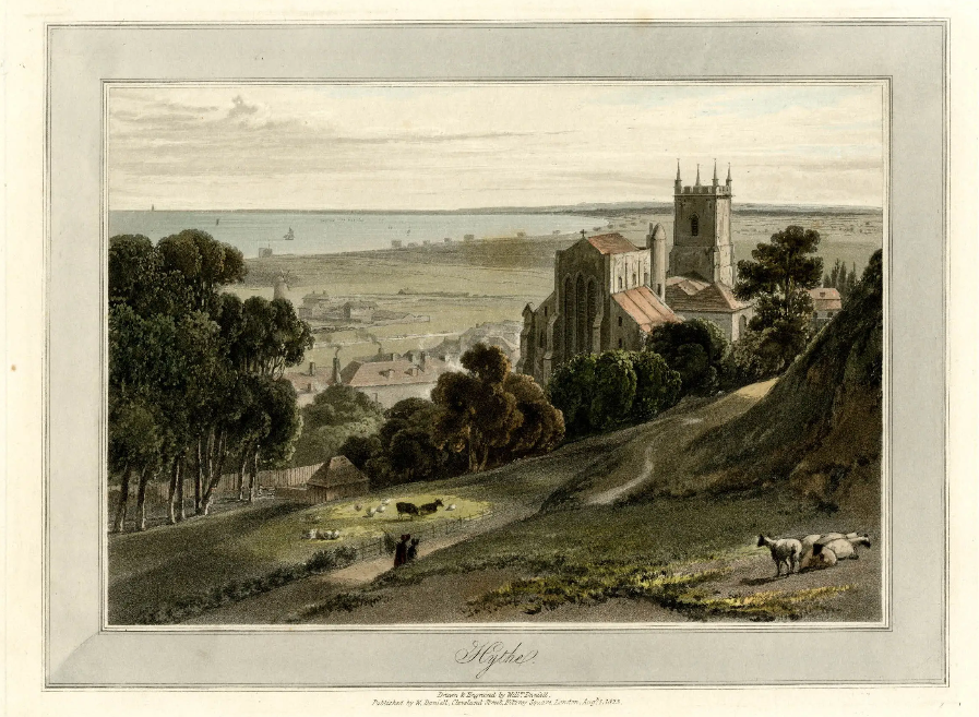 Hythe Kent 1823 from watercolourworld.org