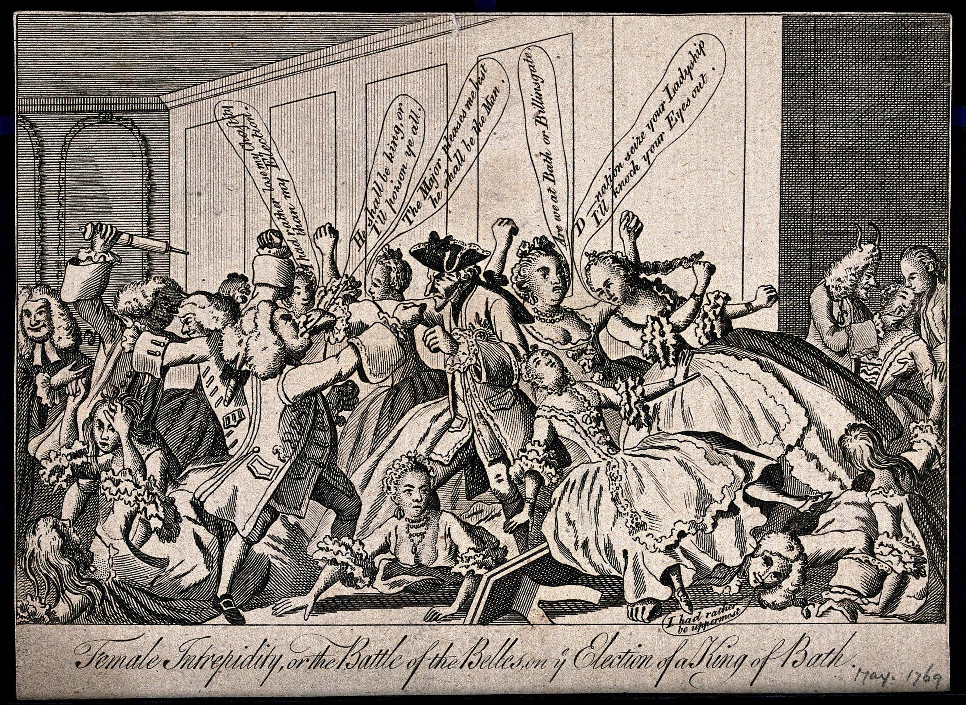 1769 cartoon King of Bath election