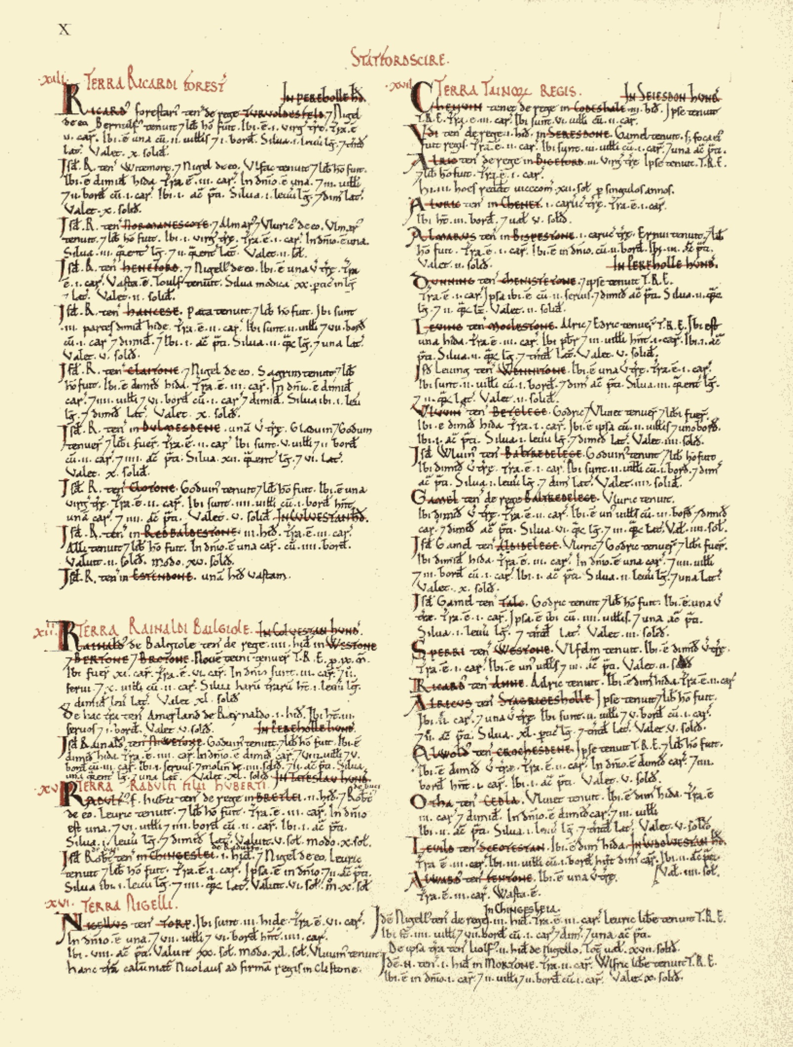 Domesday Staffordshire page 10
