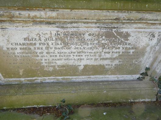 Leckhampton CdeC tomb