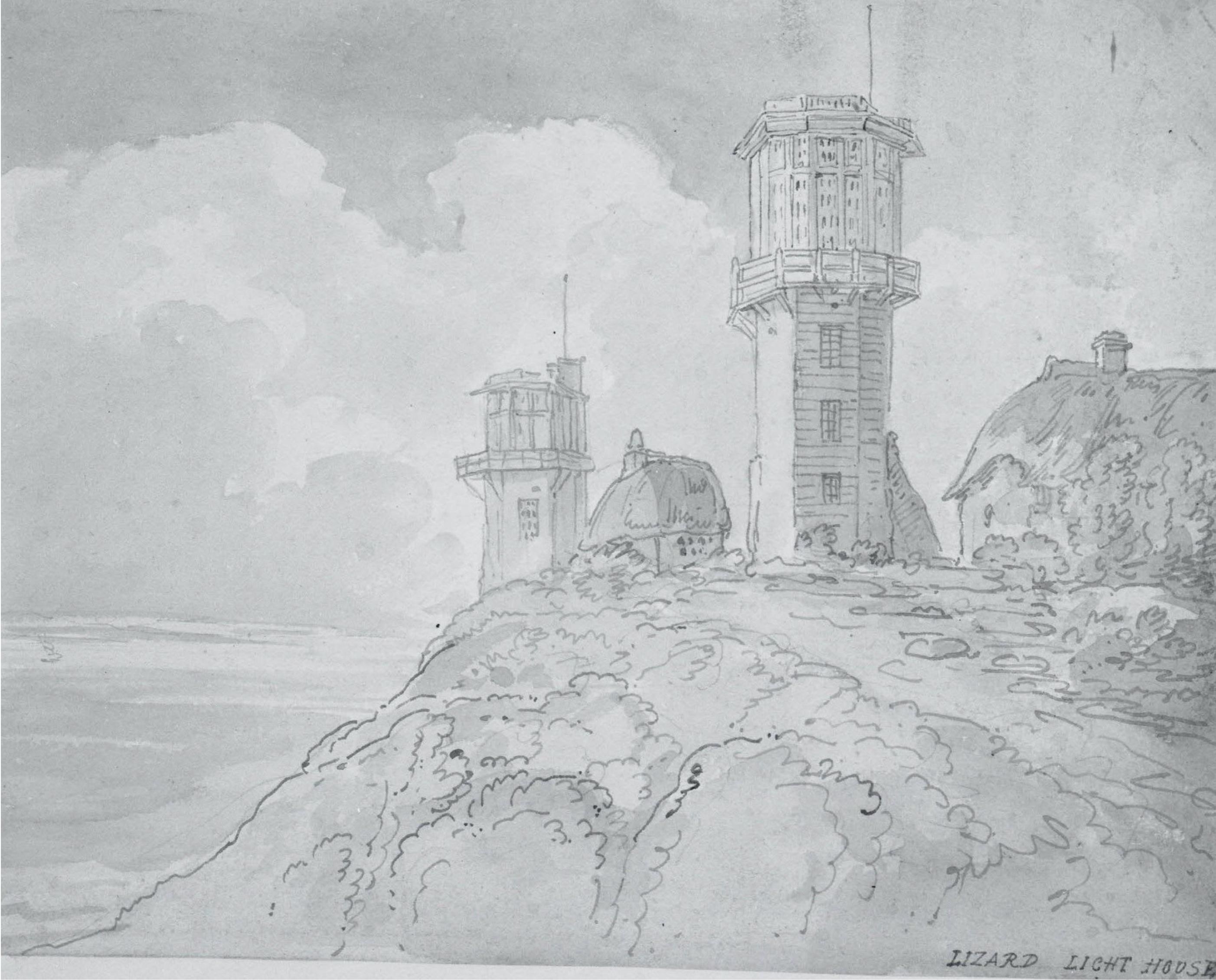 Lizard Light House 1772 - 1827 by T Rowlandson