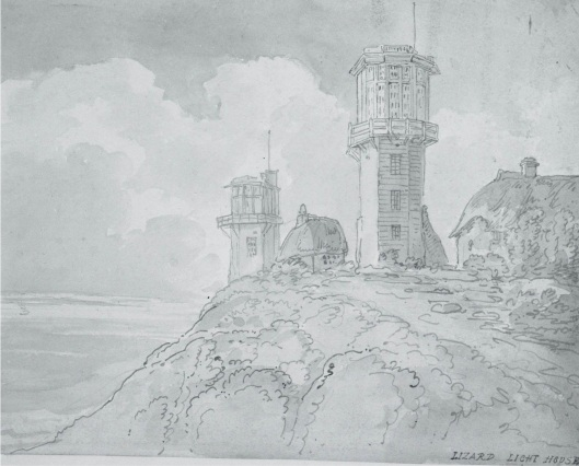 Lizard Light House 1772 - 1827 by T Rowlandson