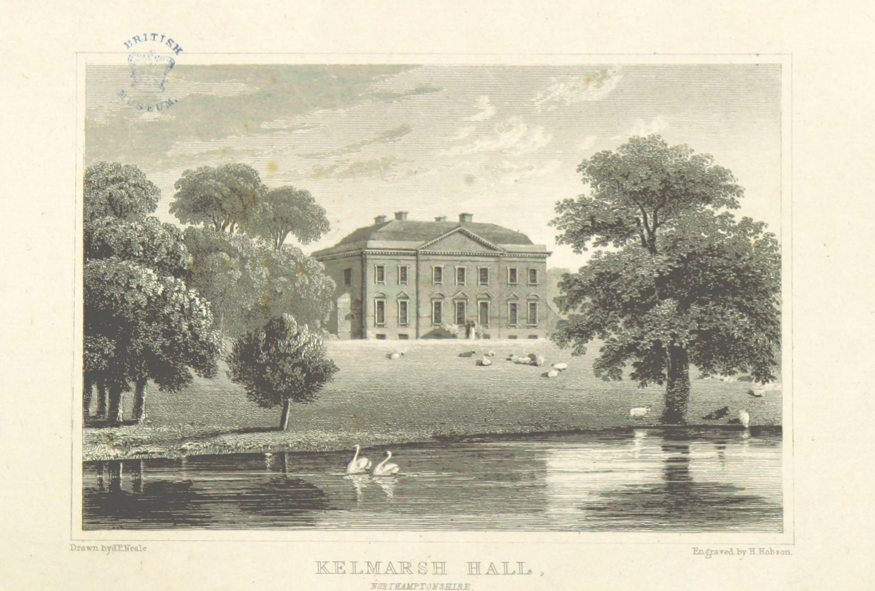 Neale(1818)_p3.160_-_Kelmarsh_Hall,_Northamptonshire