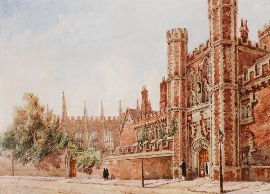 St_John's_College,_Cambridge_by_Joseph_Murray_Ince