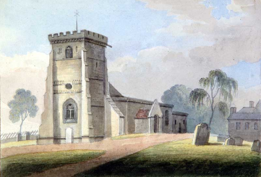 Wroxeter Church watercolour