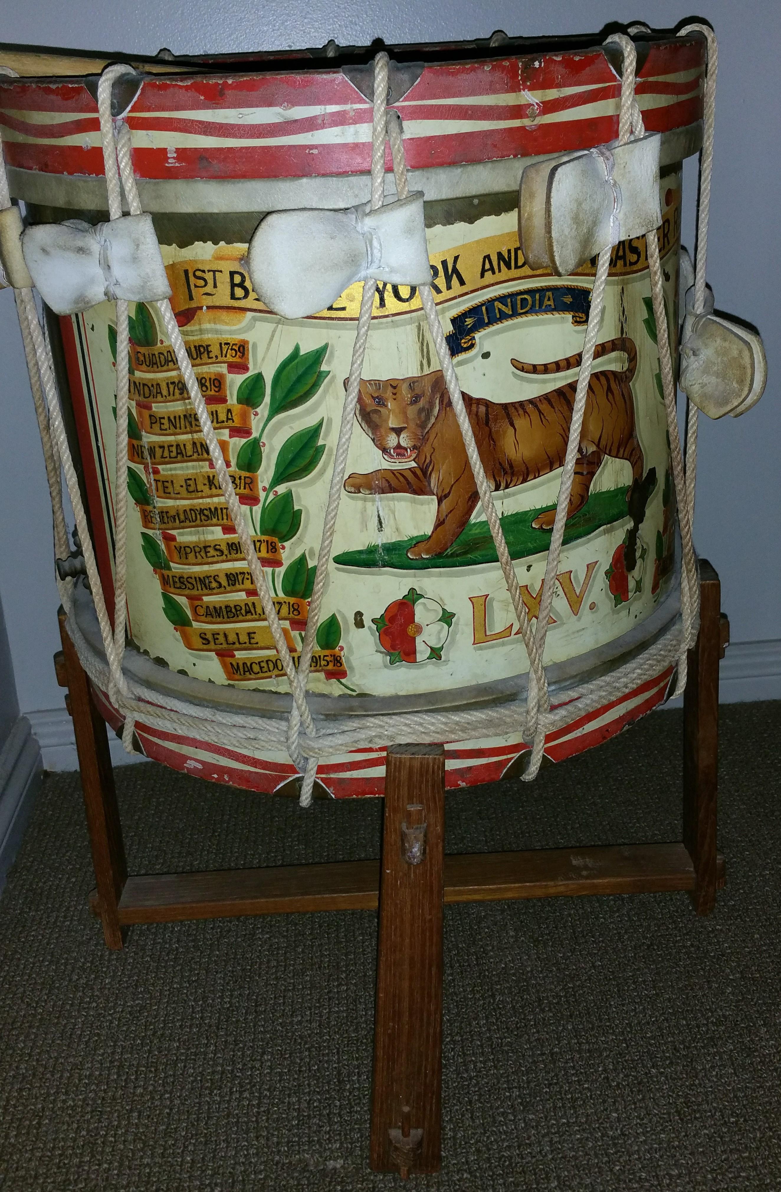 York and Lancs drum