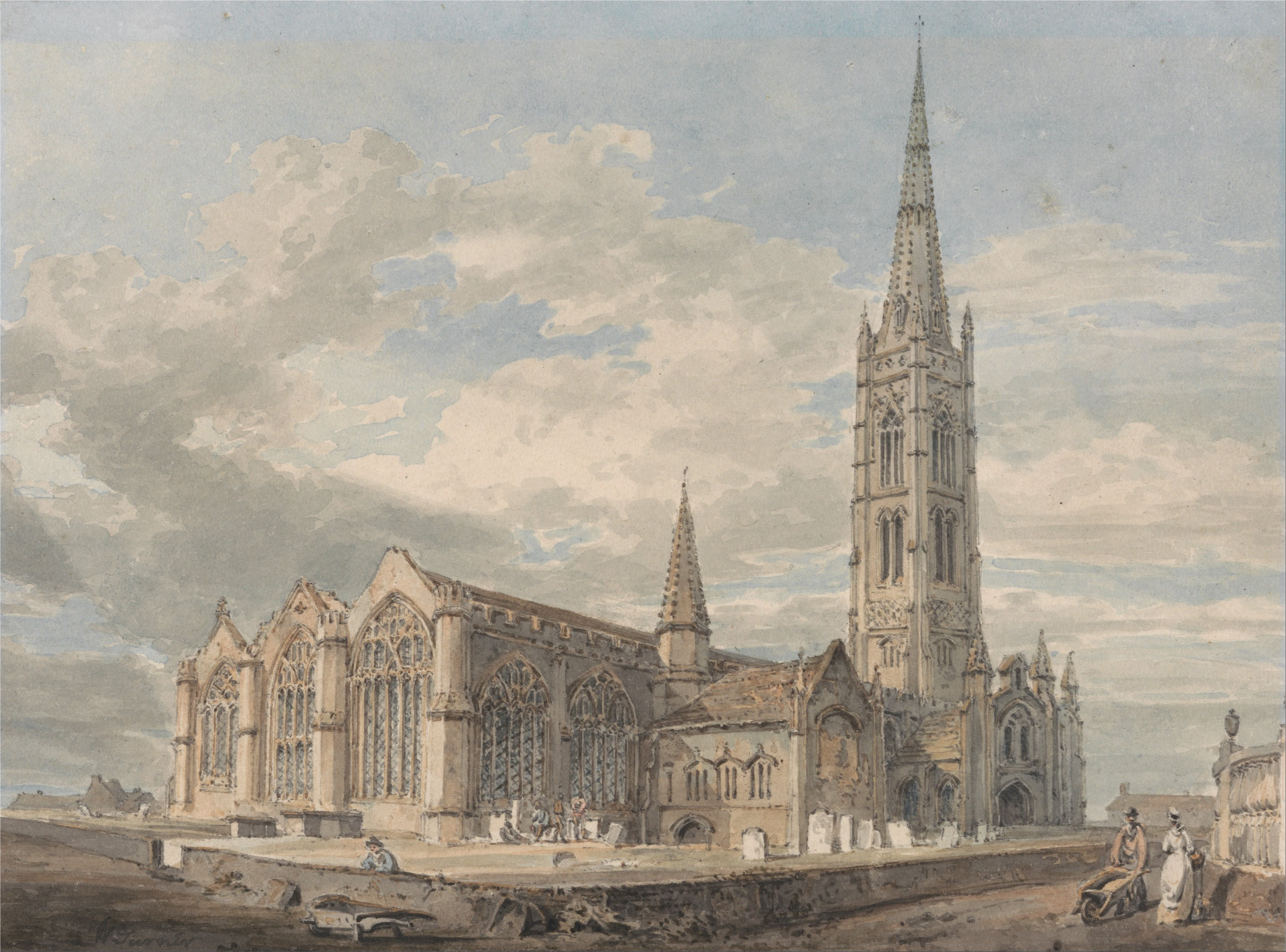 Joseph_Mallord_William_Turner_-_North_East_View_of_Grantham_Church,_Lincolnshire_-_Google_Art_Project