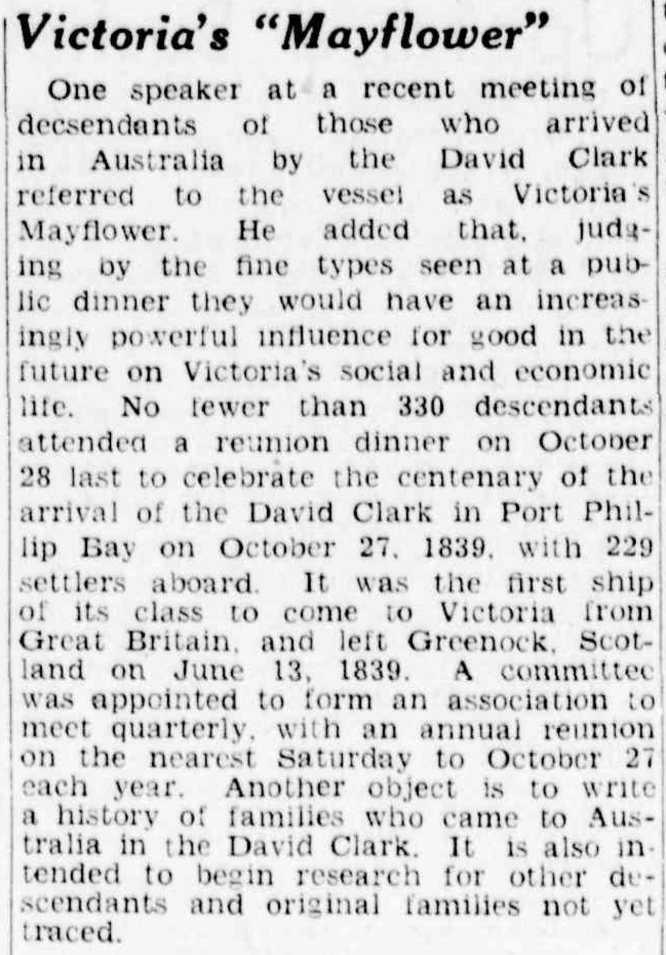 The Age (Melbourne, Vic. - 1854 - 1954) View title info Wed 15 Nov 1939 Page 10 NEWS OF THE DAY