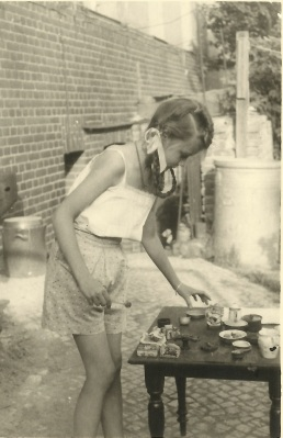 My mother in about 1947