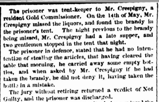 Crespigny Castlemaine larceny 1853 b
