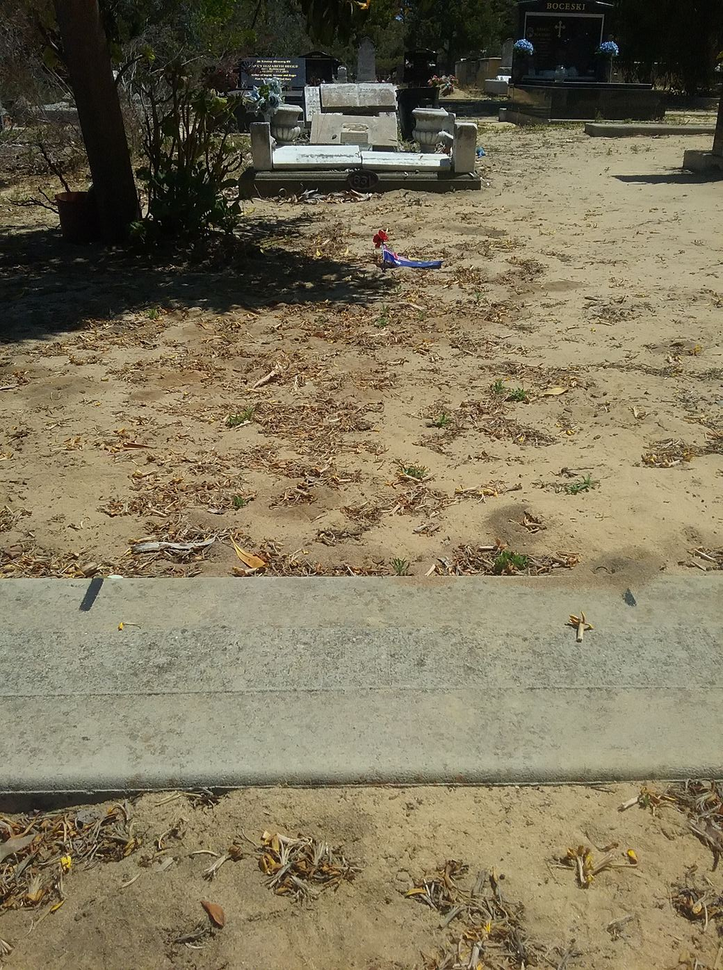 2019 11 11 George Butcher's grave Karrakatta
