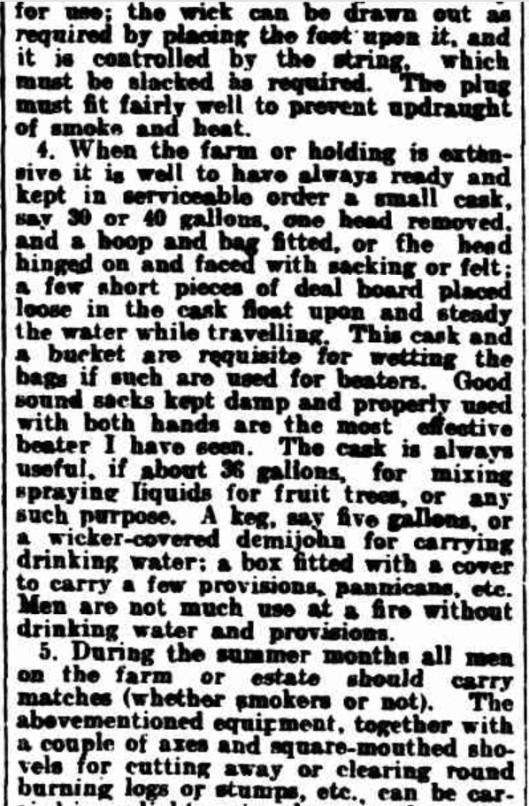 1905 bushfire precaution b
