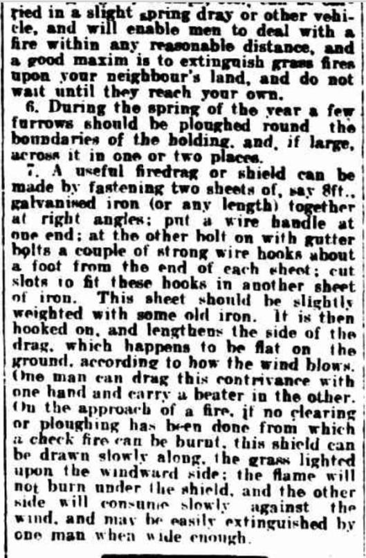 1905 bushfire precaution c
