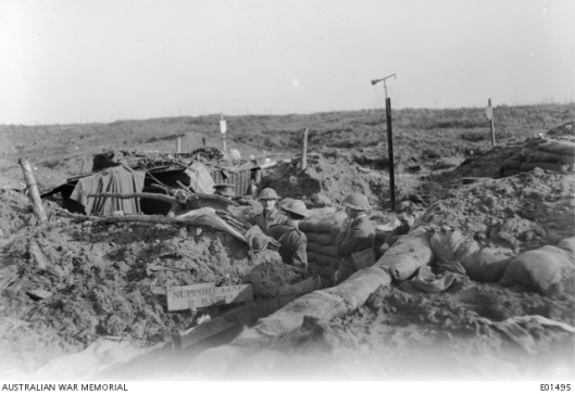 Birdwood 1918 trench awm 4096023