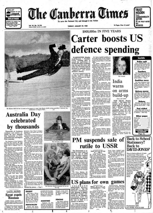 Canberra Times 1980 01 29 pg 1