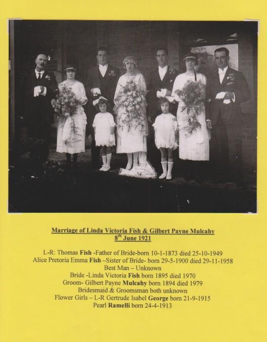 Fish Linda marriage to Mulcahy 1921