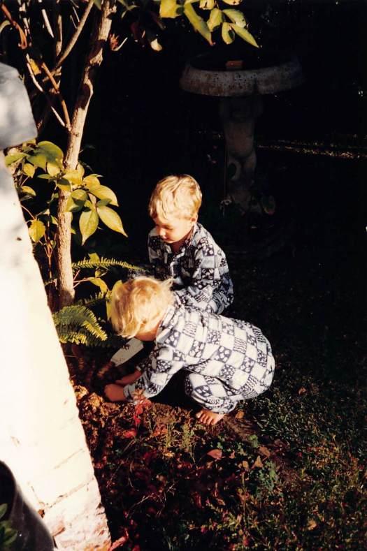 Hovell street grandchildren gardening