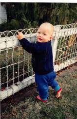 Hovell Street Peter's first steps on front fence