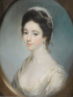Katherine Read PORTRAIT OF A WOMAN, PROBABLY ANNE CHAMPION DE CRESPIGNY (1739-1797), BUST LENGTH, WITHIN A DRAWN OVAL sold by Sotheby's lot 54 29 October 2018
