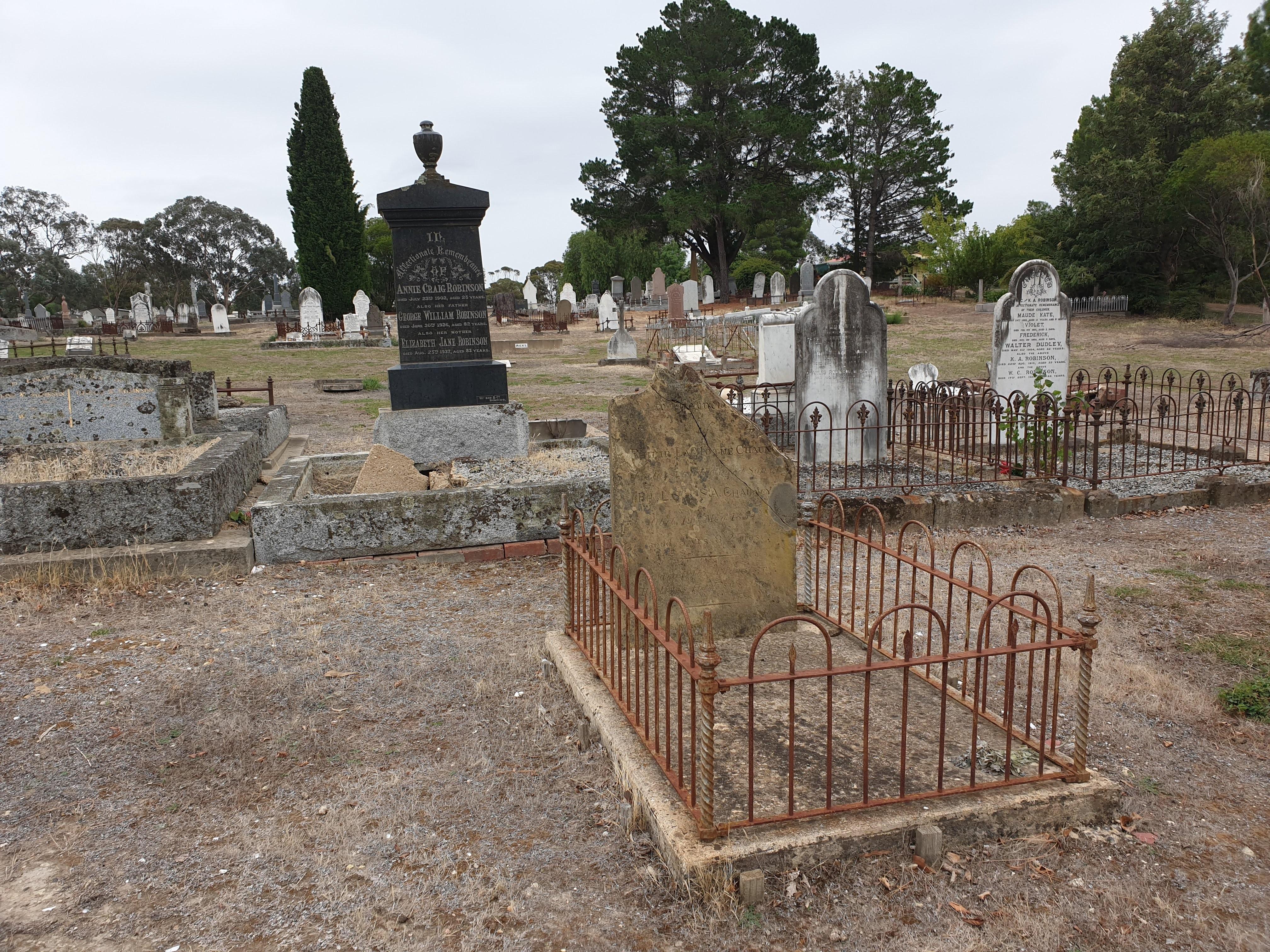 Heathcote cemetery Chauncy grave 20200304_112425