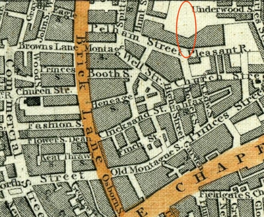 Albert Street missing 1851 map