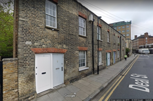 Albert Street now Deal Street April 2019 Google Street View