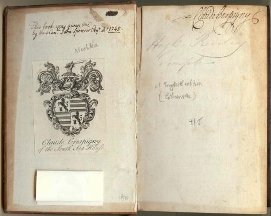 Crespigny Claude bookplate Princeton