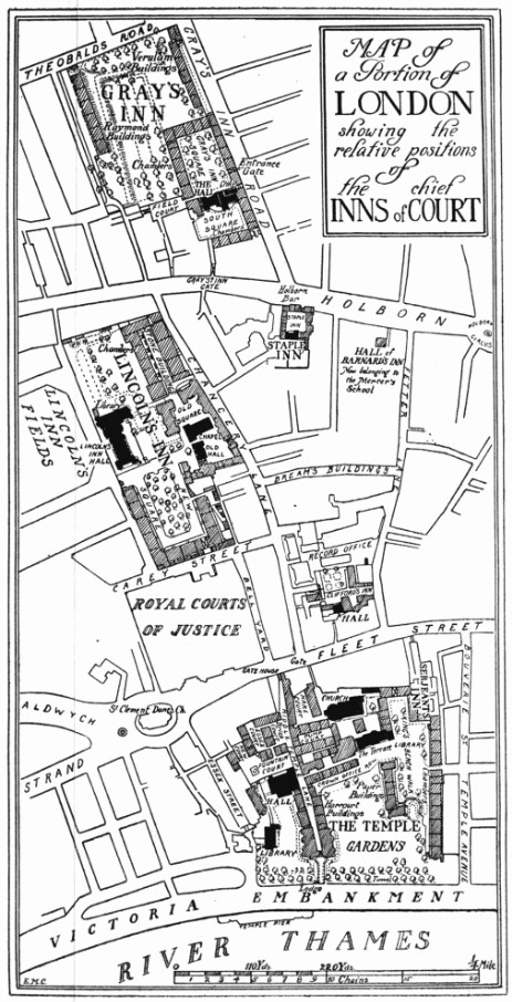 Inns of Court map