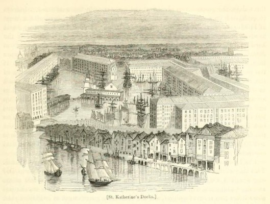 St Katherine's Docks from London vol 3 1842 Edited Charles Knight