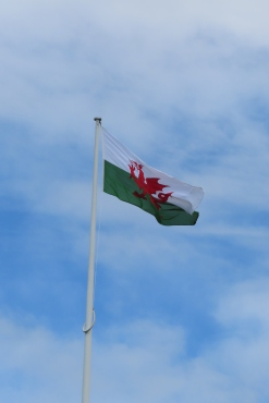 Not sure what the English would have thought of the Welsh flag flying over the castle