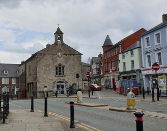 The centre of the town in Denbigh