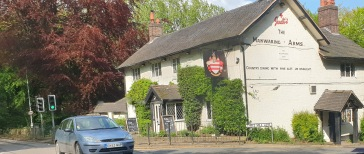 We drove past the Mainwaring Arms at Whitmore en route south