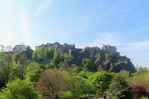 a view of Edinburgh Castle from Princes Street