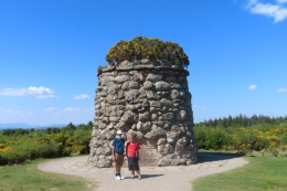 Culloden battlefield memorial cairn was erected in 1881